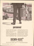 Brown Root Inc 1962 Vintage Ad Oil Personnel Ahead Schedule Completion