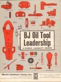 Byron Jackson Tools Inc 1962 Vintage Ad Oil Leadership Power Capacity