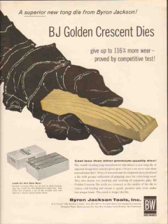 Byron Jackson Tools Inc 1962 Vintage Ad Oil BJ Golden Crescent Dies