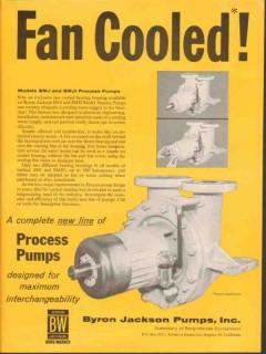 Byron Jackson Pumps Inc 1962 Vintage Ad Oil Fan Cooled Process