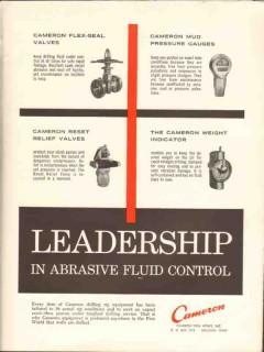 Cameron Iron Works 1962 Vintage Ad Oil Abrasive Fluid Control Leader