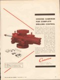 Cameron Iron Works 1962 Vintage Ad Oil Field Complete Drilling Control