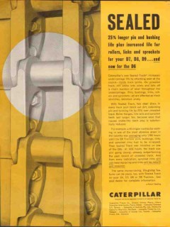 caterpillar tractor company 1962 sealed longer pin bushing vintage ad