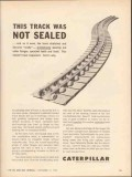 caterpillar tractor company 1962 track not sealed stretched vintage ad