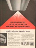 caterpillar tractor company 1962 self-cleaning injectors vintage ad