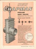 Crane Company 1962 Vintage Ad Oil Field Chapman Pipeline Gate Valves