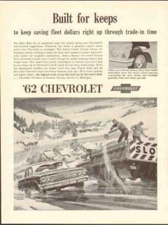 chevrolet 1962 built for keeps saving fleet dollar trade-in vintage ad