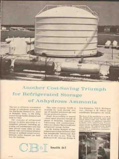 chicago bridge iron company 1962 refrigerated storage vintage ad