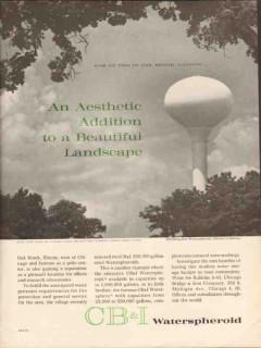 chicago bridge iron company 1962 oak brook il water vintage ad