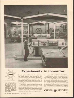 cities service 1962 experiment tomorrow modern sales appeal vintage ad