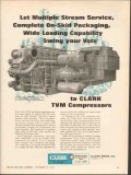 Clark Brothers Company 1962 Vintage Ad Oilfield Engine TVM Compressors
