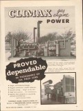 Climax Engine Mfg Company 1962 Vintage Ad Oil Field Proved Dependable