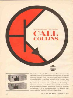 collins radio company 1962 call transistorized microwave vintage ad