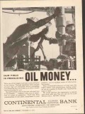 Continental Bank Trust Chicago 1962 Vintage Ad Producing Oil Money 1