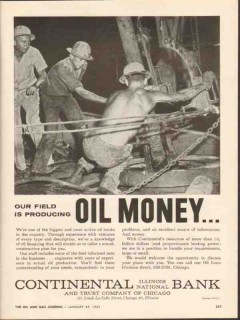 Continental Bank Trust Chicago 1962 Vintage Ad Producing Oil Money 2