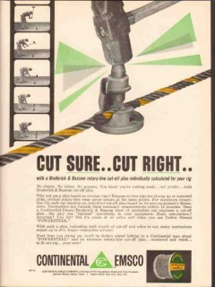 Continental-Emsco Company 1962 Vintage Ad Oil Broderick Bascom Cut-Off