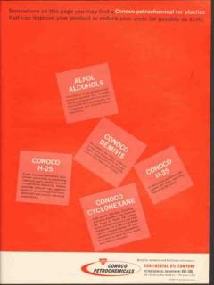Continental Oil Company 1962 Vintage Ad Conoco Petrochemical Plastics