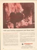 FMC Corp 1962 Vintage Ad Oil Loading Equipment Chiksan Pass Fire Test