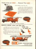 Cabot Corp 1962 Vintage Ad Franks Well Service Cramer Co Drumright OK