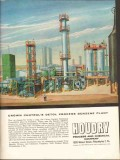 Houdry Process Chemical Company 1962 Vintage Ad Crown Central Benzene