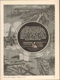 Houston Contracting Company 1962 Vintage Ad Working Restricted Areas