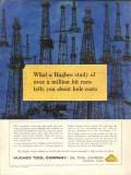 Hughes Tool Company 1962 Vintage Ad Oil Field Drill Bit Run Hole Costs