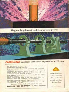 Hughes Tool Company 1962 Vintage Ad Oil Field Drill Stem Flash-Weld