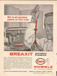 Humble Oil Refining Company 1962 Vintage Ad Breaxit Maximize Crude