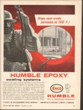 Humble Oil Refining Company 1962 Vintage Ad Epoxy Coating Systems Pipe