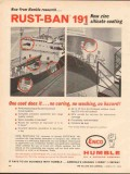 Humble Oil Refining Company 1962 Vintage Ad Rust-Ban 191 Zinc Silicate