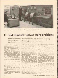 hybrid computer 1962 minneapolis-honeywell problems vintage article