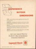 Ingersoll-Rand 1962 Vintage Ad Compressor Experience Four Dimensions
