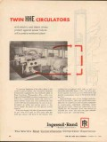 Ingersoll-Rand 1962 Vintage Ad Gas Compressor Twin HHE Circulators