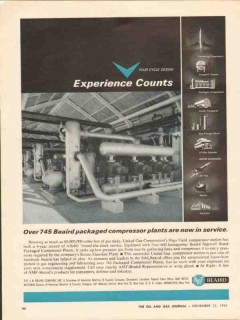 J B Beaird Company 1962 Vintage Ad Compressor Plants Experience Counts