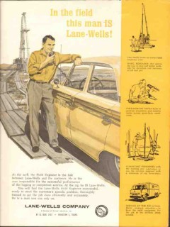 Lane-Wells Company 1962 Vintage Ad Oil Field Engineer Customer Link