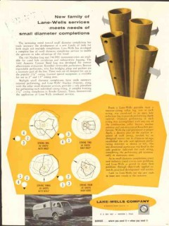Lane-Wells Company 1962 Vintage Ad Oil Field Small Diameter Completion