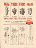 Larkin Packer Company 1962 Vintage Ad Oil Field Tubing Basic Heads