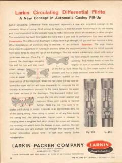 Larkin Packer Company 1962 Vintage Ad Oil Field Casing Fill-Up Filrite