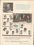 Latex Construction Company 1962 Vintage Ad Oil Field Introduce Men