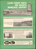 Layne Bowler Inc 1962 Vintage Ad Oil Jet Fuel Pump Wichita Airport KS