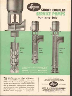 Layne Bowler Inc 1962 Vintage Ad Oil Field Service Pump Short Coupled