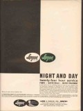 Layne Bowler Inc 1962 Vintage Ad Oil Pumps Wells Night Day Service