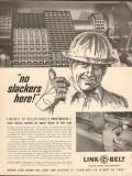 Link-Belt Company 1962 Vintage Ad Oil Field Roller Chain No Slackers