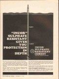Lone Star Cement Corp 1962 Vintage Ad Oil Incor Sulphate Resistant