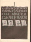 Lone Star Cement Corp 1962 Vintage Ad Oil Field Well Protection Starts
