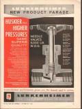 Lunkenheimer Company 1962 Vintage Ad Oil Needle Valve Higher Pressures