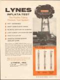 Lynes Inc 1962 Vintage Ad Oil Gas Positive Tubing Pressure Test System
