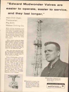 Mabee Drilling Company 1962 Vintage Ad Oil Dick Dyer Toolpusher Rig 20