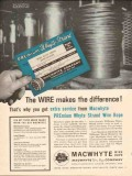 MacWhyte Wire Rope Company 1962 Vintage Ad Premium Strand Difference