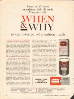 Magnet Cove Barium Corp 1962 Vintage Ad Oil Well Inverted Emulsion Mud
